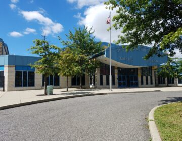 The exterior of Grover Washington Jr. Middle School in Olney.