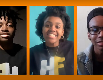 'Things That Matter' author and lead Jehmir Nixon (far right) with contributors Jaelynn Pearson and Samuel Smith'THINGS THAT MATTER' ON YOUTUBE