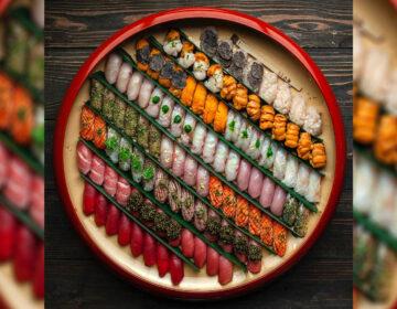 The 104-piece nigiri plate at Royal Izakaya