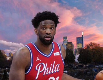 Philadelphia 76ers center Joel Embiid, the crown jewel of The Process. (Embiid: AP Photo/Carlos Osorio/Skyline: Mark Henninger/Imagic Digital)