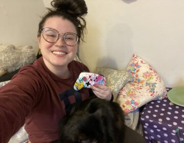 Mackenzie Warren prepping for her day of playing video games on Nintendo Switch and hanging out with her cat.