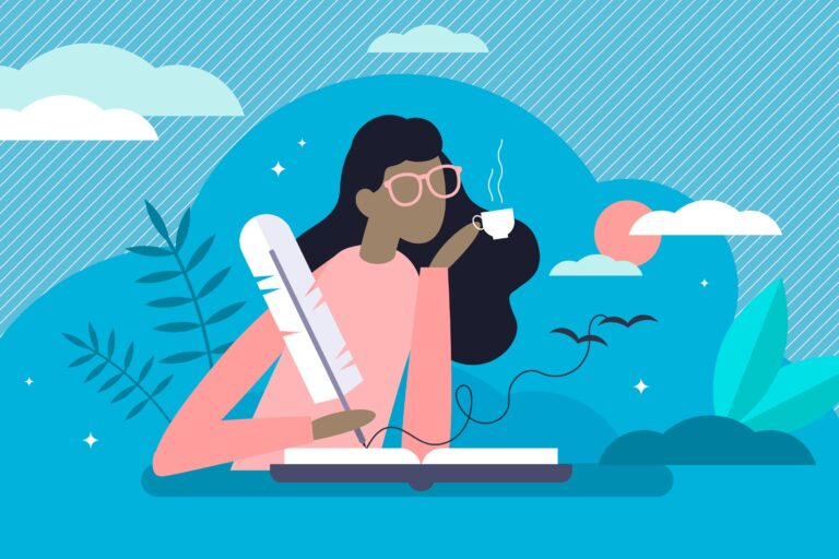 """Journaling is a lifelong process — whether it's daily, yearly or every decade — it's a way to check in with yourself and say, """"How am I doing right now?"""" (VectorMine / Big Stock Photo)"""