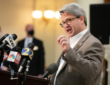 Gabriel Sterling, voting system implementation manager for the Georgia secretary of state's office, answers questions during a press conference in November. (Jessica McGowan/Getty Images)