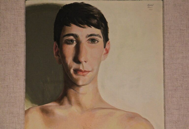 Gilbert Lewis portrait painting of model Anthony Rullo