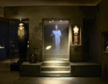A life-size hologram tells the story of 2,300-year-old Egyptian mummy Nefrina in the Ancient Civilizations Gallery at the Reading Public Museum
