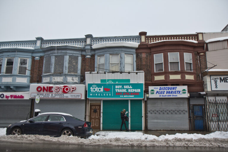Business on the 60th Street shopping corridor in West Philadelphia. (Kimberly Paynter/WHYY)