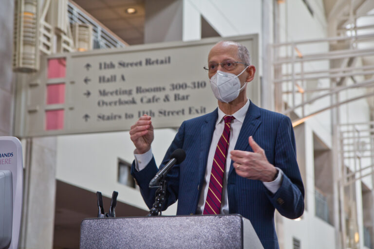 Philadelphia Health Commissioner Dr. Thomas Farley addresses the media