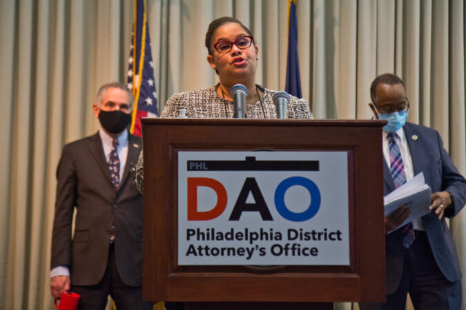 Assistant District Attorney Adara Combs spoke at a panel to highlight reforms made to juvenile justice policies in the city on February 8, 2021. (Kimberly Paynter/WHYY)
