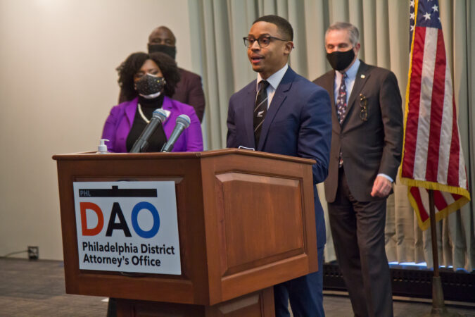 Assistant District Attorney Jordan King spoke at a panel to highlight reforms made to juvenile justice policies in the city on February 8, 2021. (Kimberly Paynter/WHYY)