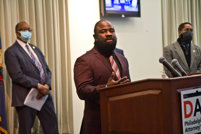 Donnell Drinks, former juvenile lifer, and co-founder of G.R.O.W.N, spoke at a panel to highlight reforms made to juvenile justice policies in the city on February 8, 2021. (Kimberly Paynter/WHYY)