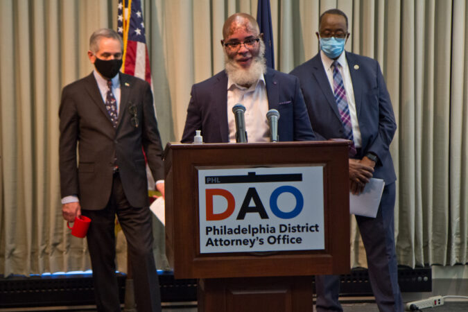 Don Ike Jones, former juvenile lifer, and co-founder of G.R.O.W.N, spoke at a panel to highlight reforms made to juvenile justice policies in the city on February 8, 2021. (Kimberly Paynter/WHYY)