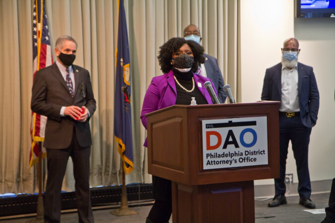 State representative Joanna McClinton spoke at a panel to highlight reforms made to juvenile justice policies in the city on February 8, 2021. (Kimberly Paynter/WHYY)