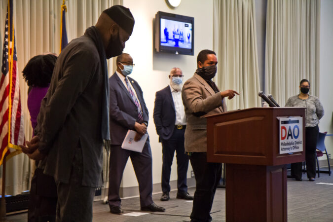 State Senator Sharif Street spoke at a panel to highlight reforms made to juvenile justice policies in the city on February 8, 2021. (Kimberly Paynter/WHYY)