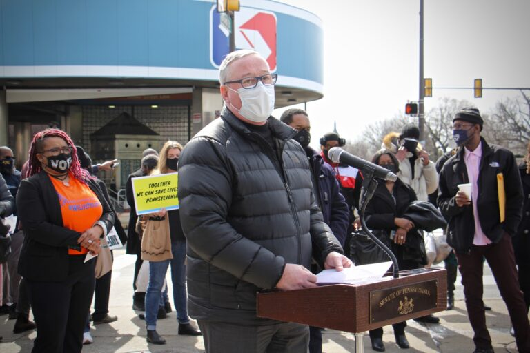 Mayor Jim Kenney speaks