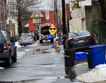 A Philadelphian took a photo of recycling getting picked up with trash. The face of the city worker is obscured to protect their identity. (Jason Peters/Twitter)