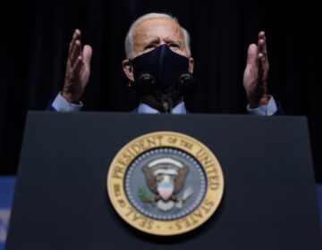 President Joe Biden speaks during a visit to the Viral Pathogenesis Laboratory at the National Institutes of Health