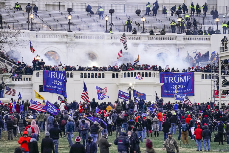 violent protesters, loyal to President Donald Trump, storm the Capitol, in Washington