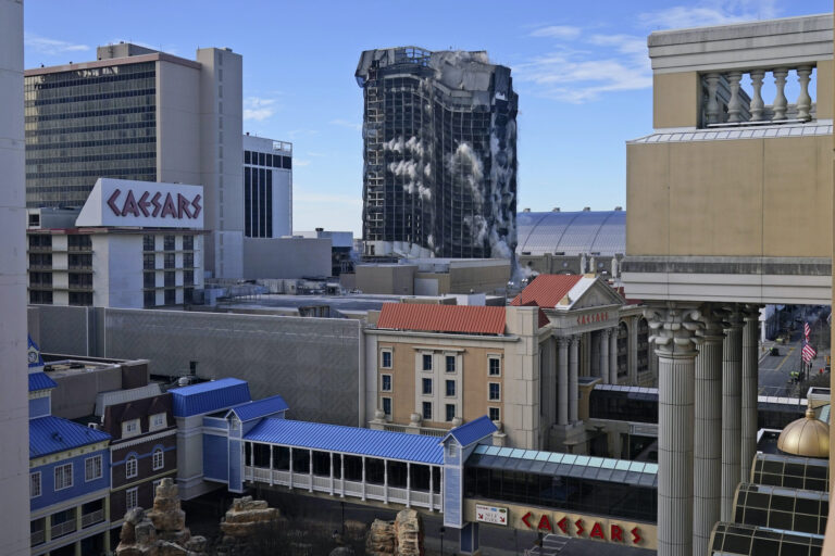The former Trump Plaza casino is imploded