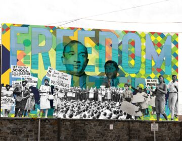 An artist's rendering of the Freedom Fighters mural at Girard College. (Courtesy of Mural Arts Philadelphia)