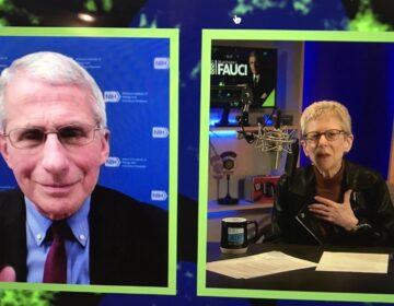 Dr. Athony Fauci spoke with Fresh Air's Terry Gross as a recipient of WHYY's Lifelong Learning Award. (Jennifer Lynn/WHYY)