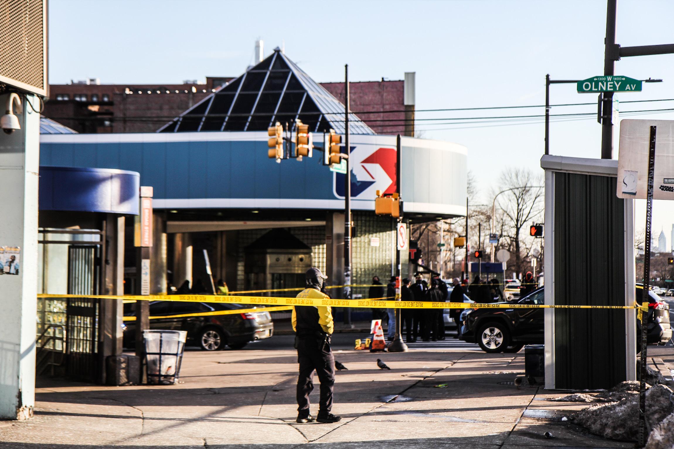 Eight people were shot Feb. 17 at Olney Transportation Center in Philadelphia. (Kimberly Paynter/WHYY)