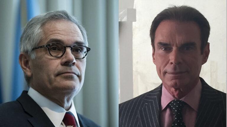 Philadelphia District Attorney Larry Krasner (left) and defense attorney A. Charles Peruto. (Matt Rourke/AP Photo; peruto.com)