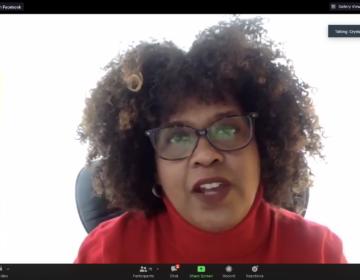 Crystal Clark, principal of Wyncote Elementary School, speaks during Montgomery County's Black History Month virtual panel. (Zoom screenshot)