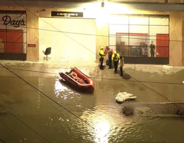 water main break causes flooding in North Philly