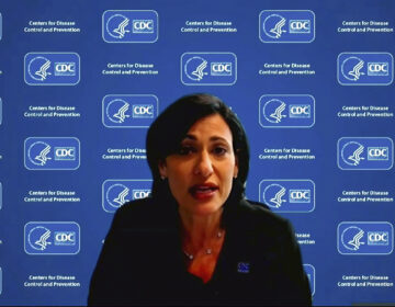 Dr. Rochelle Walensky, director of the Centers for Disease Control and Prevention, speaks during a White House briefing on the Biden administration's response to the COVID-19 pandemic. (Image from video/AP)