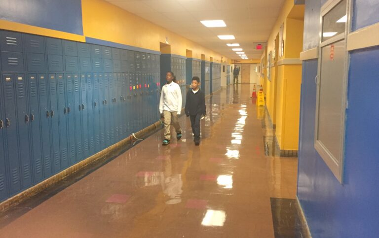 New Castle County will reassess property values to settle a lawsuit that argues that students in low-income districts, especially in Wilmington at schools like Bancroft, get inadequate resources. (Cris Barrish/WHYY)