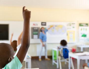 Classroom during coronavirus pandemic