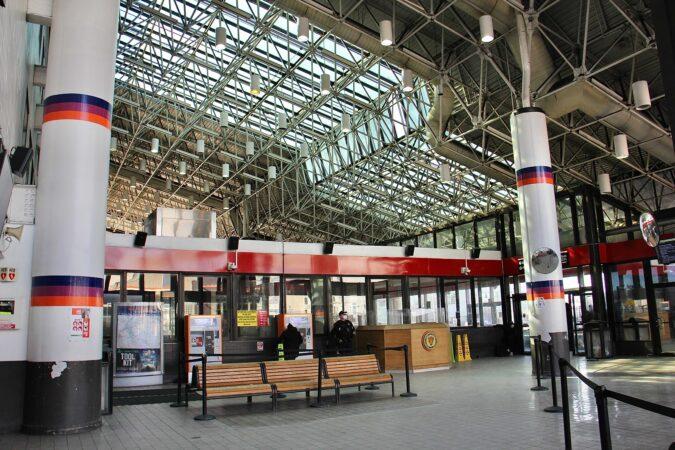 The interior of Walter Rand Transportation Center in Camden