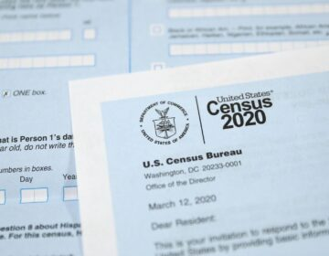 A close-up of the 2020 census.
