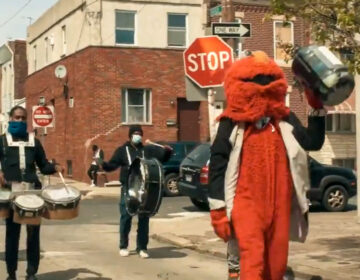 Positive Movement Entertainment is better known as the 'Philly Elmo drumline' (Screenshot via Hate5Six via YouTube)