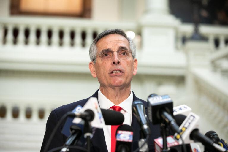 Georgia's Secretary Of State addresses the media