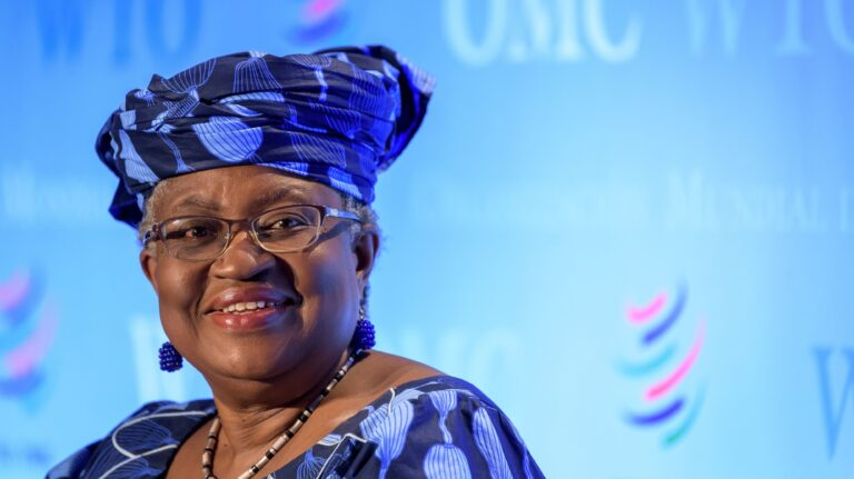 Ngozi Okonjo-Iweala, pictured in July 2020 in Geneva, will head the WTO beginning in March. She wants countries to drop restrictions on the export of vaccines and other medical supplies. Fabrice Coffrini/AFP via Getty Images