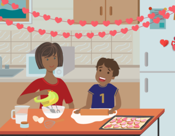 Making Valentine's Day cookies is a safe alternative for the holiday weekend. (CDC)