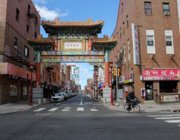 The streets of Chinatown in April 2020. (Emma Lee/WHYY)