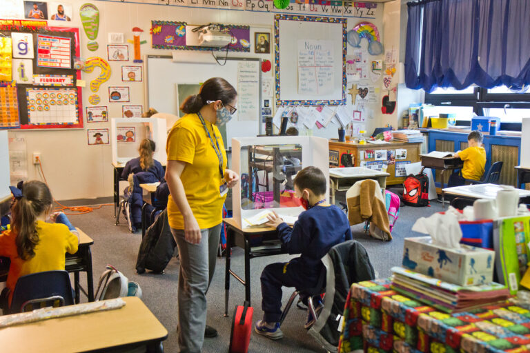 Teachers are getting vaccinated in New Jersey earlier than originally announced. (Kimberly Paynter/WHYY)