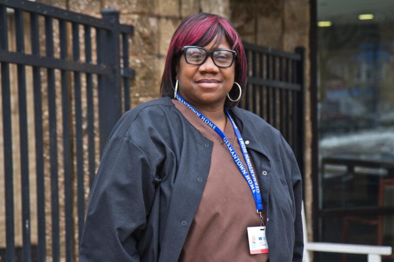 Keta White is a health care worker in Philadelphia's Mt. Airy neighborhood. (Kimberly Paynter/WHYY)