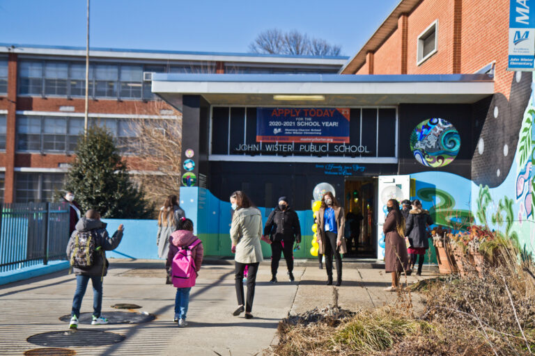 Students return to John Wister Elementary School