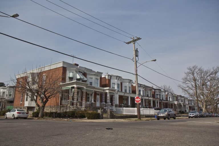 Rowhouses on North 50th Street in West Philadelphia.