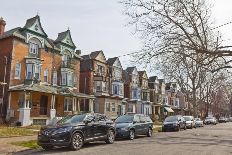 Homes on North 50th Street in West Philadelphia.