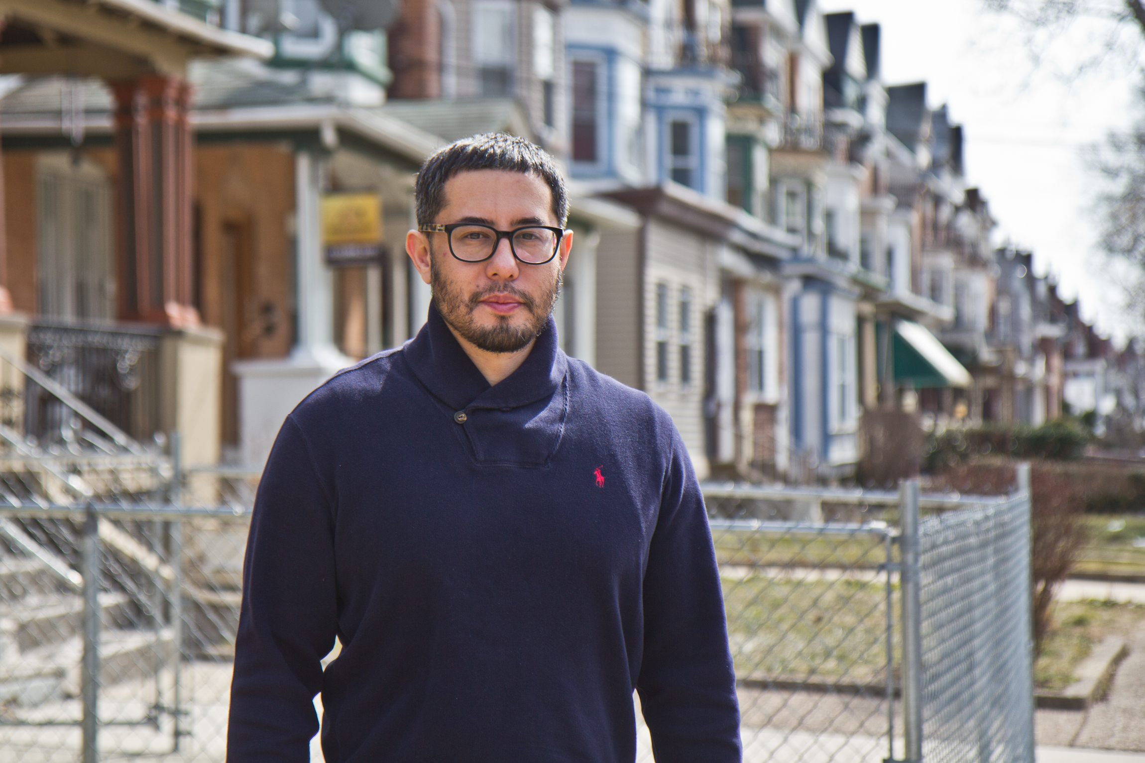 Landlord Anthony Krupincza in front of his property on North 50th Street in West Philadelphia