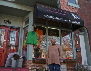 Phyllis Jones-Carter outside A Part of Me Boutique