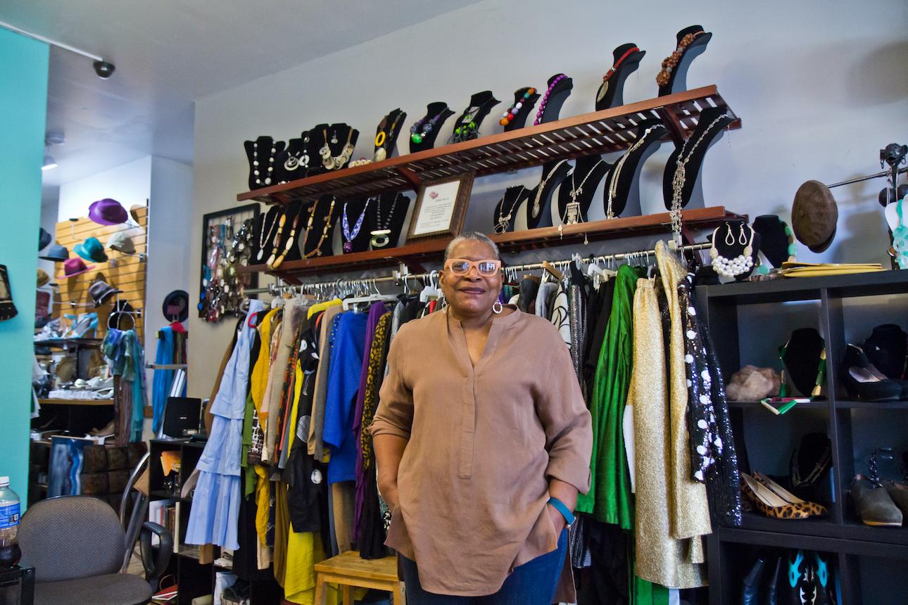 Phyllis Jones-Carter inside A Part of Me Boutique