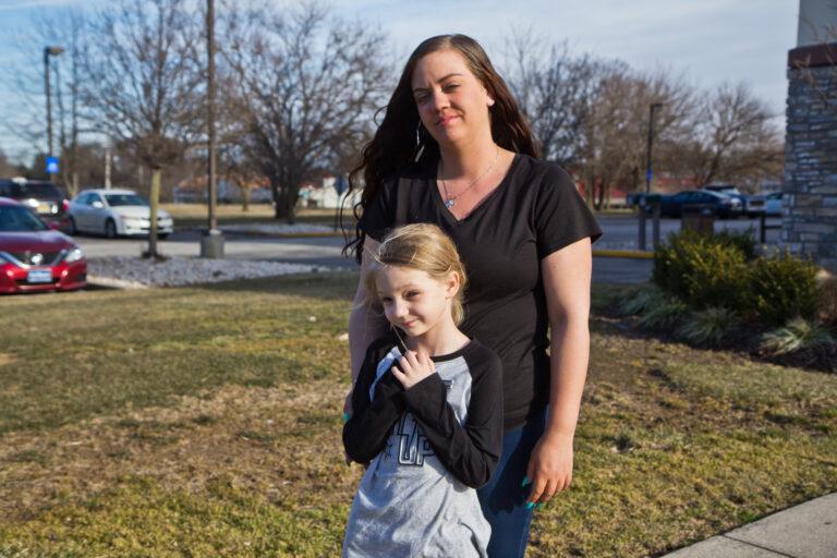 Tiffani Szabara and her daughter Cadence