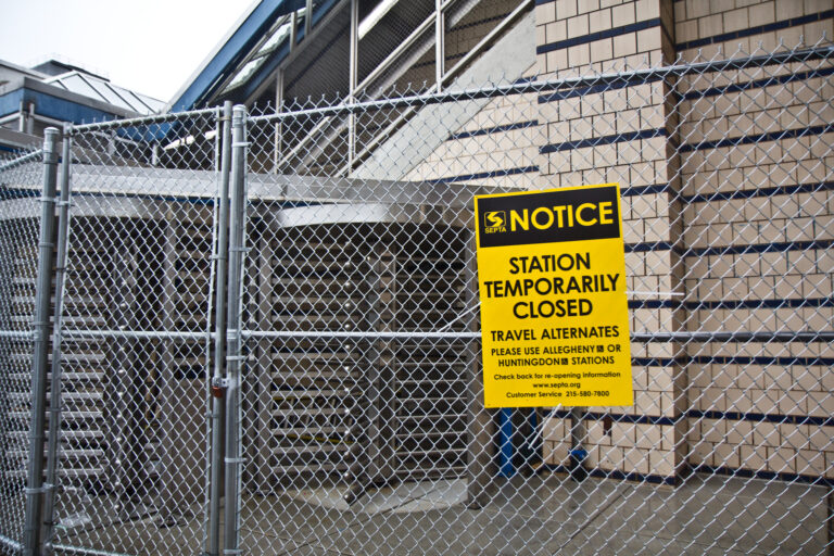 A notice informs the public of the closure of the Somerset Street El stop
