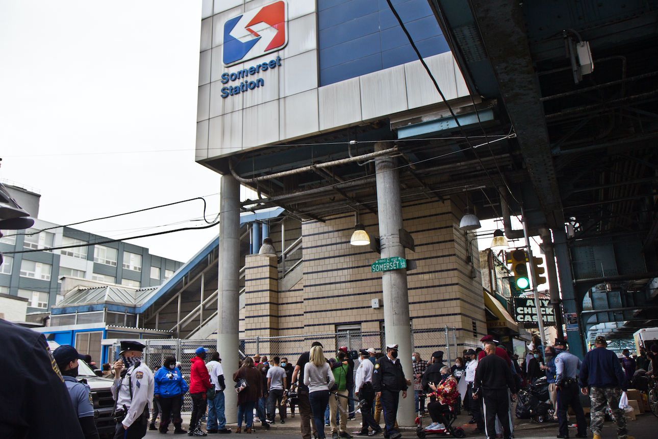 Kensington residents gather at SEPTA's Somerset Station to protest its closure