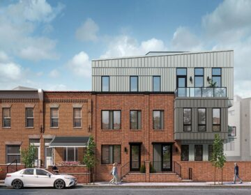 This rendering shows a newly built condo development in the Graduate Hospital section of Philadelphia. (The Stafford Group/  Gnome Architecture)